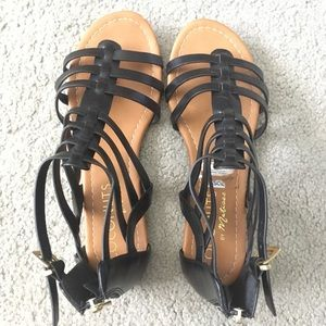 Coconuts by Matisse Shoes - Black gladiator sandals